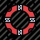 hawaii, lifebuoy, lifeguard, lifesaver, security icon