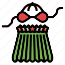 clothes, female, hawaiian, hawii, skirt icon