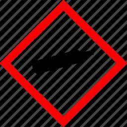 compressed gas, gas, hazard symbols, industrial icon