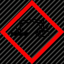 corrosive, hazard symbols, industrial icon