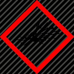 explosive, hazard symbols, industrial icon