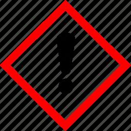 caution, hazard symbols, industrial, irritant icon