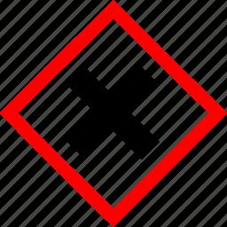 hazard symbols, industrial, irritant icon