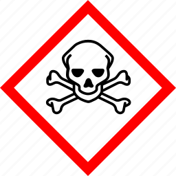 hazard symbols, industrial, toxic icon