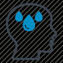 celsius, colds, degrees, graze, head, sweat, temperature icon
