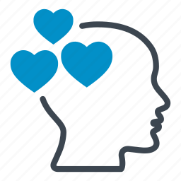 emotion, head, hearts, like, love, loving, romance icon