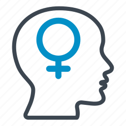 female, feminine, girl, head, human, person, woman icon