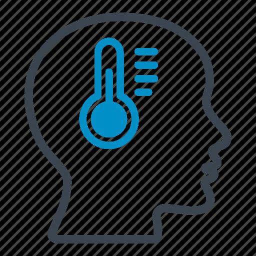 body, celsius, degrees, head, measure, temperature, thermometer icon