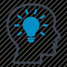 bulb, creative, idea, inspiration, plan, project icon