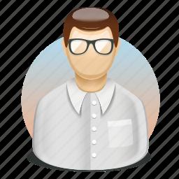 director, employee, head, male, shirt, tie, user icon