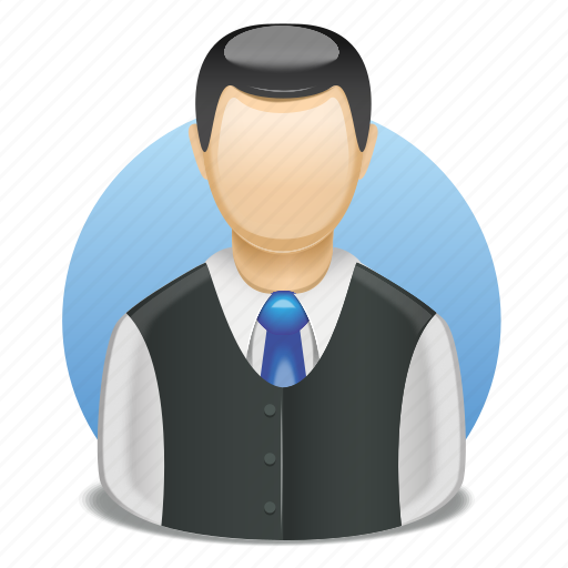 director, employee, head, male, shirt, tie, user icon