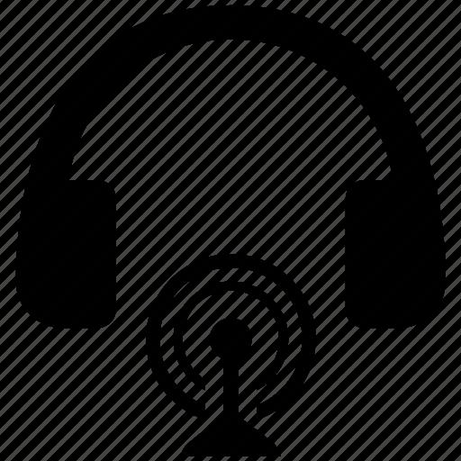 device, headphones, headset, listen, music, sound, wireless icon