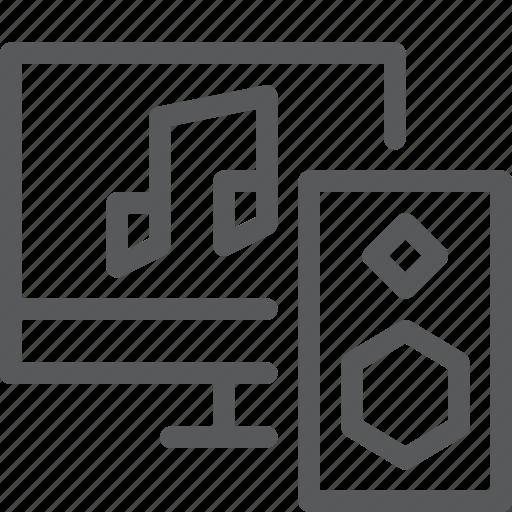 audio, computer, headset, imac, loud, music, sound, speakers icon