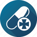 caplet, drug, medicine, narcotic, pharmacy, pill, tablet icon