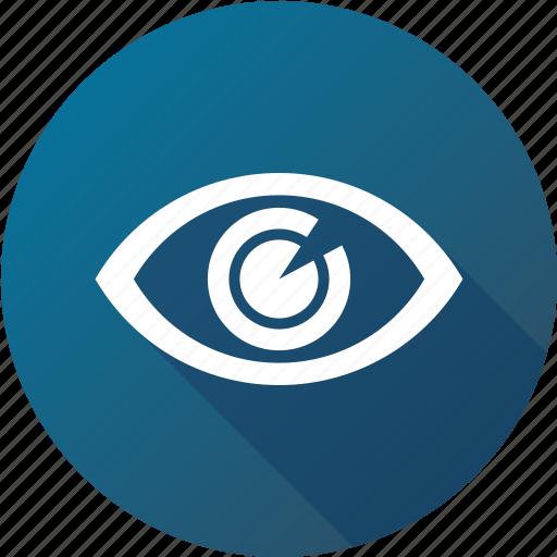 eye, iris, opthalmology, view icon