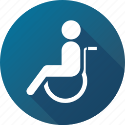 disabled, handicap, handicapped, patient, wheelchair icon