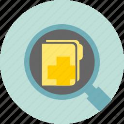file, medical, record icon