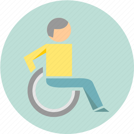 disabled, patient, wheelchair icon