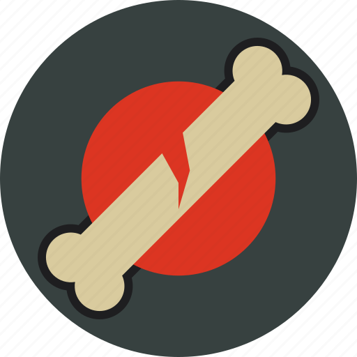 bone, broken, fracture, orthopedic icon