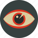 eye, opthalmology, optic, see, view, vision icon