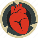 cardio, circulation, heart icon