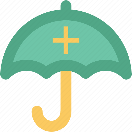 guard, health care, medical protection symbol, medicament, red cross, treatment, umbrella icon