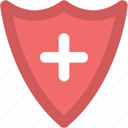 health protection, healthcare, medical care, medical shield, medical sign, medicine, shield icon