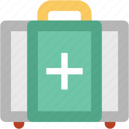 first aid, first aid bag, first aid box, first aid kit, healthcare, medical bag, medical rescue icon