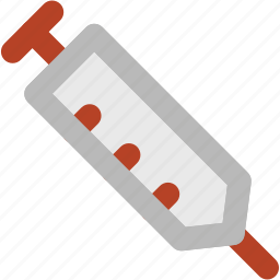 injecting, injection, intravenous, medical treatment, syringe, vaccine icon