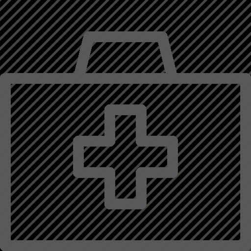 box, briefcase, cross, health, medicine, pills, prescription icon