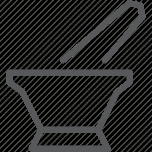 drug, health, mortar, pestle, pharmacy, supplies, tool icon