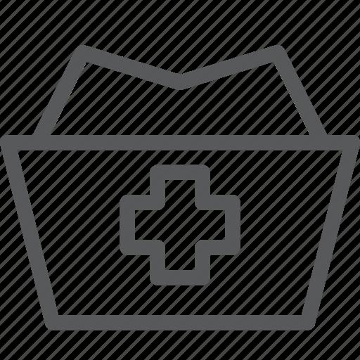 cap, clothes, cross, hat, health, medical, nurse, uniform icon