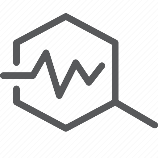 beat, check, graph, health, heartbeat, magnifier, pulse, view icon