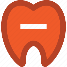 dental health, dental hygiene, dentistry, human tooth, odontology, remove sign, stomatology icon
