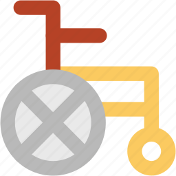 disability, disabled, handicap, paralyzed, patient chair, wheelchair icon