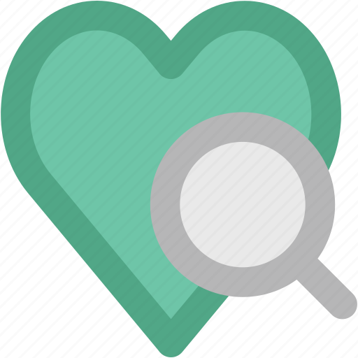 cardiology, healthcare, heart analysis, heart checkup, heart examine, magnifier, magnifying heart icon