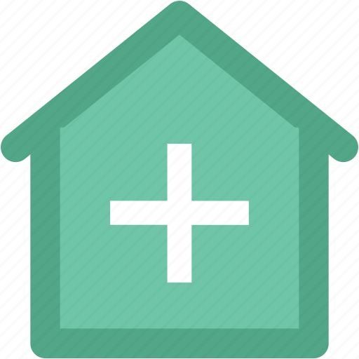 building, clinic, dispensary, hospital, medical center, nursing home, polyclinic icon