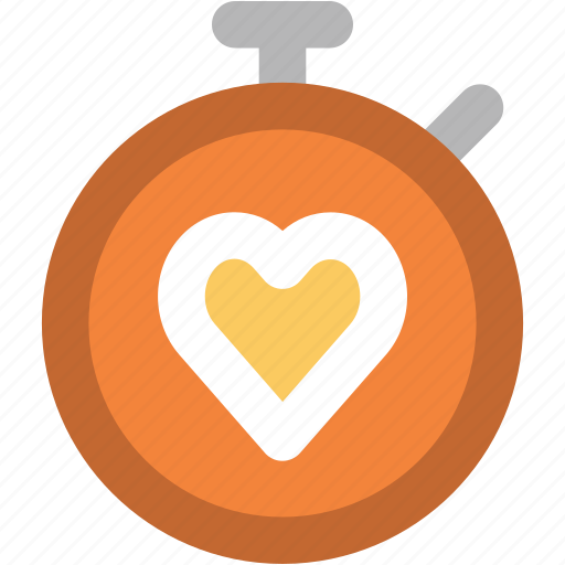 fitness, heart sign, heart timer, heartbeat palpitation, loving time, stopwatch icon