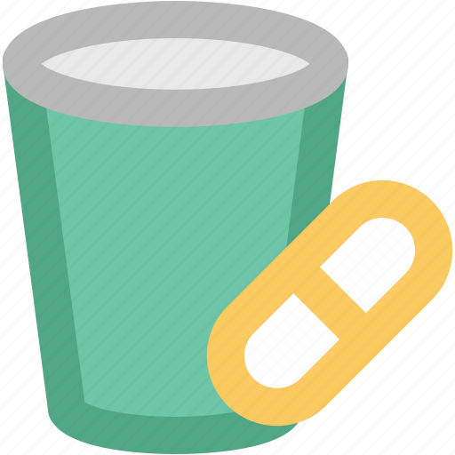 capsules, capsules container, medical drugs, medications, medicine, medicine jar icon