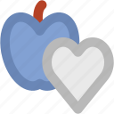 apple, healthcare, healthy concept, healthy diet, healthy food, healthy nutrition, heart icon