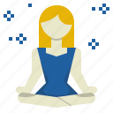calm, emotion, meditation, mind, reduce, relax, stress icon