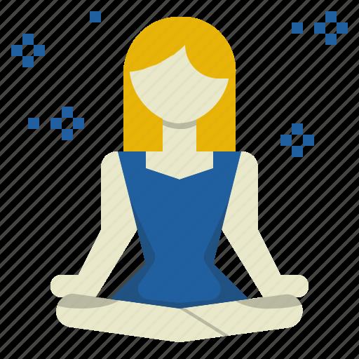 calm, emotion, meditation, mind, reduce, relax, stress icon