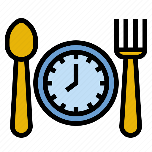 eat, health, meal, on, routine, time icon