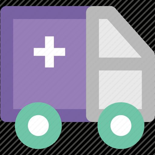 ambulance, emergency, paramedic van, rescue van, transport, vehicle icon