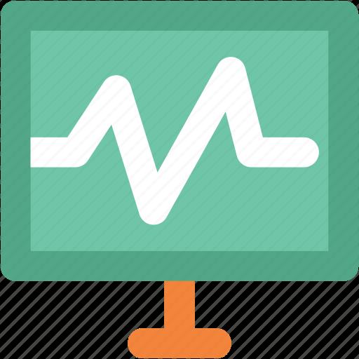 electrocardiogram, heartbeat, heartbeat screen, lifeline, pulsation, pulse, pulse rate icon