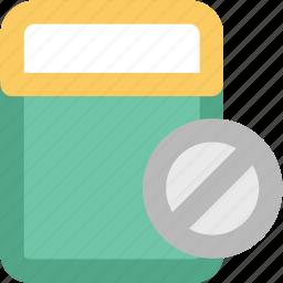 bottle, medical drugs, medications, medicine jar, pills, pills container, tablet icon