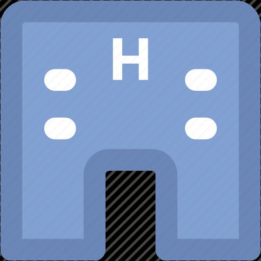 building, clinic, dispensary, hospital, medical center, nursing home, polyclinic icon