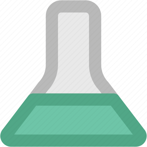 conical flask, elementary flask, erlenmeyer flask, lab accessories, lab equipment, lab flask icon