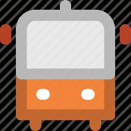 autobus, bus, motor bus, motorcoach, transport, travel, vehicle icon