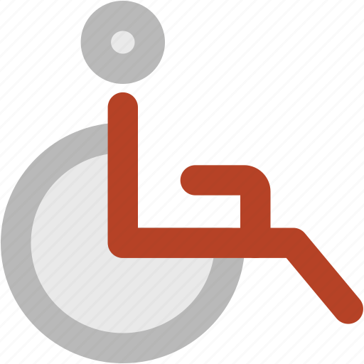 disability, disabled, disabled parking, handicap, paraplegic, sign, unfitness icon